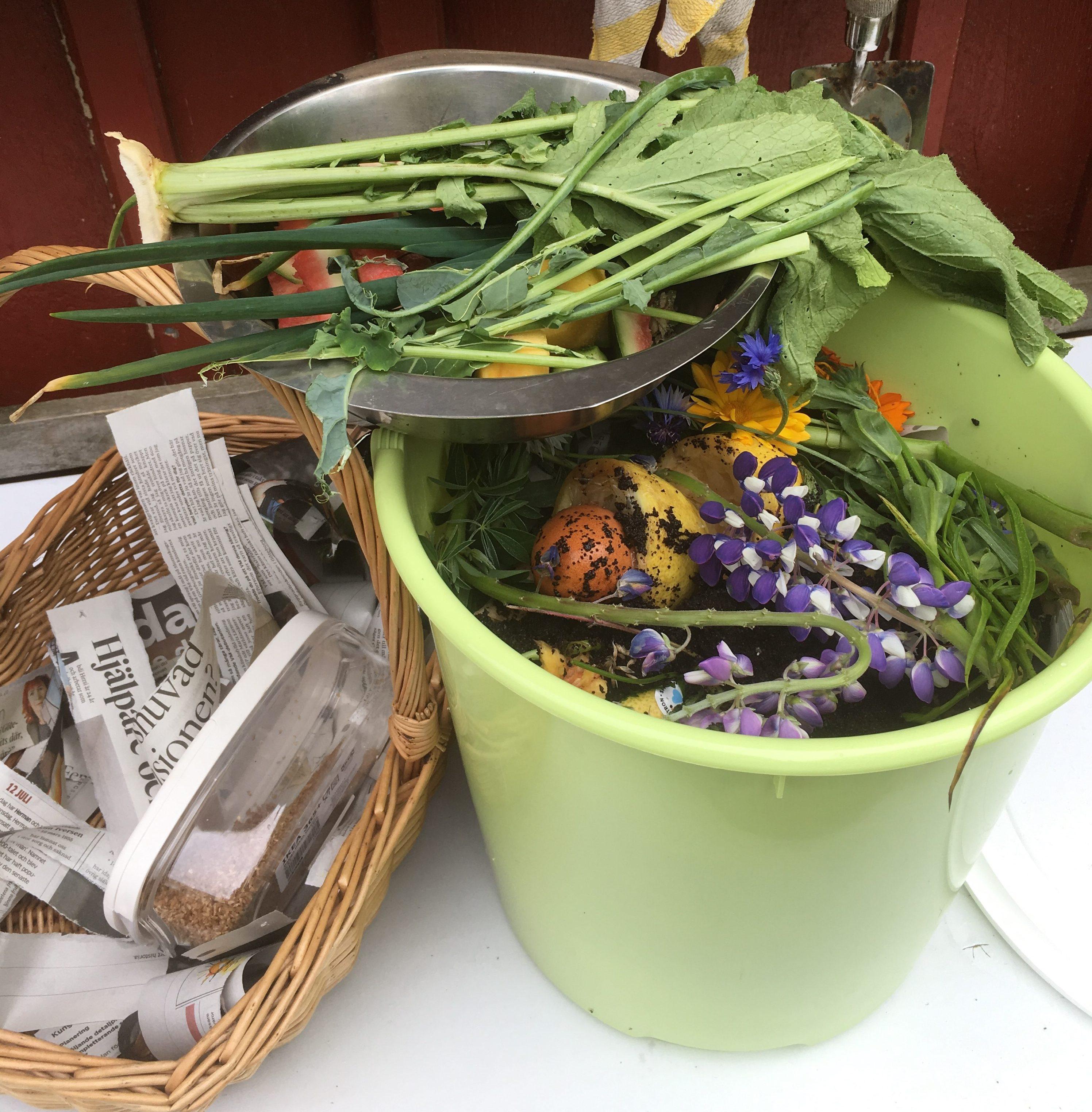 Mat blir jord- snabb kompostering med bokashi